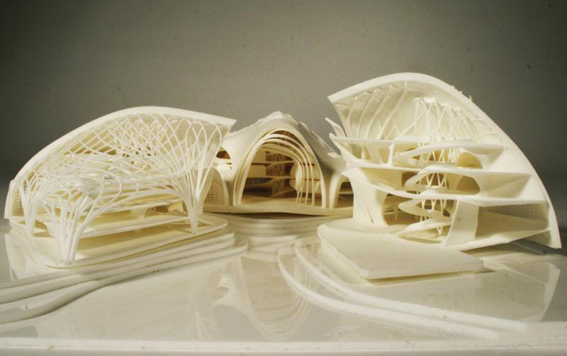Protocluster 3d Printed Model - Central Public Space